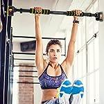 Pull Up Bar Chin up Bar Doorway Exercise Bar Upper Body Workout Bar - Alu Locking Mechanism - No Screws- No Tools for...
