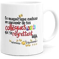 Mug Humour Collègue Tasse Message Drôle Rigolo. Idée Cadeau Original pour Départ en Retraite Mutation Travail Bureau…