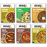 Tit-Bit  All in one Masala Mix Combo - Pack of 6 Contains Chhole Masala 50g, Chat Masala 50g, Dal Makhani Masala 50g, Meat Masala 50g, Chicken Masala 50g, Biryani Masala 50g