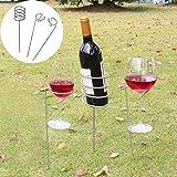 Sansee bicchiere di vino e bottiglie in gioco set per barbecue da giardino picnic campeggio vino paletti 1set