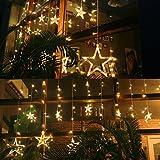 Guirlande Lumineuse 138 LED 12 Etoiles 1*2M 8 Modes Rideau...