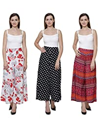 Vogue Nation Combo Of 3 White( With Pink And Red Print) Floral Bouquet Design, Black & White Polka Dots And Multicolour...