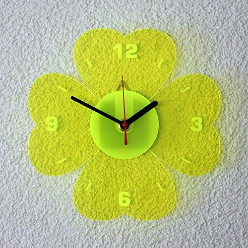 Orologio al quarzo da parete in vetro acrilico, 21cm, a
