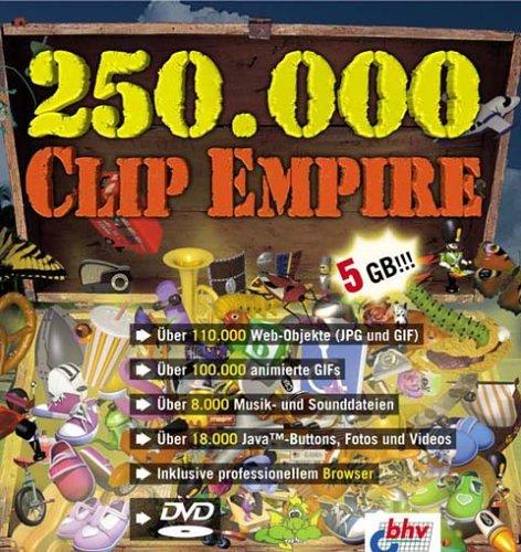 250.000 Clip Empire, DVD-ROMDie ultimative Clipart-Sammlung für alle Fälle. Für Windows 98, Me, NT 4, 2000 oder XP
