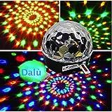 KK-LIGHT - Luce a sfera da discoteca, telecomando per MP3, effetti di colore al laser con luci cangianti a mini LED, fili di luce a forma di tela di ragno per feste, DJ - Novità