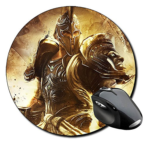god-of-war-trojan-alfombrilla-redonda-round-mousepad-pc