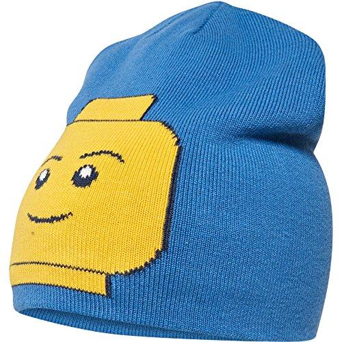LEGO Wear Jungen Mütze Lego Boy Ayan 634-Wendbare Strickmütze, Blau (Blue 552), 56