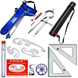 Camlin, Eagle, Omega MRM Engineering Kit with French Curves