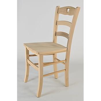 Tommychairs - Set 2 sedie Cuore per Cucina e Sala da Pranzo, Robusta ...