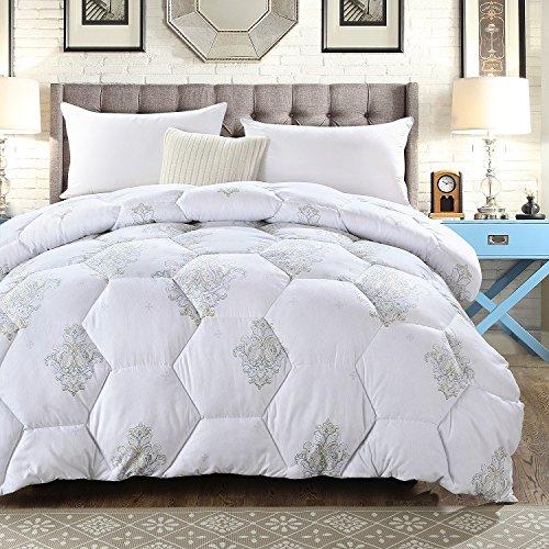 Polyester Betten/Bettwaren Wärme Voll/Queen/Voll/Twin Size Daunendecke Bettdecke einfügen, hypoallergen, genäht, Gebürstet samt Deckbett, Charme, 200 x 230 cm (3 Kg)