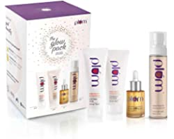 Plum Grapeseed & Sea Buckthorn Glow Pack Gift Set Instant Hydration & Glow, (Cleanse 75ml, Mask 75ml, hydrate 30ml, refresh 1
