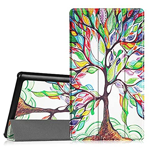 Fintie Lenovo Tab 2 A7-20 Hülle Case - Ultra Schlank superleicht Ständer Smart Shell Cover Schutzhülle Etui Tasche für Lenovo TAB 2 A7-20 17,8 cm (7 Zoll IPS) Tablet, Liebesbaum