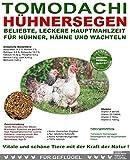 Hühnerfutter, hochwertiges, natürliches Vollwertfutter für Hühner, artgerechte, calziumreiche Komplettnahrung für besonders dickschalige Eier, reich an Omega-3 und Omega-6 Fettsäuren, natürlicher Immunschutz, Qualitäts Körnermischung für vitale, glückliche Hühner, Tomodachi Hühnersegen 15kg Sack