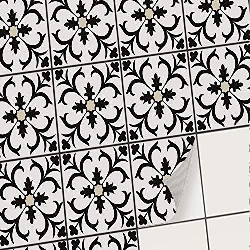 creatisto Mosaik-Fliesen Fliesenaufkleber Fliesenfolie - Hochwertige Aufkleber Sticker für Fliesen | Klebefliesen Deko Folien für Fliesen in Küche u. Bad/Badezimmer (15x20 cm | 12 -Teilig)