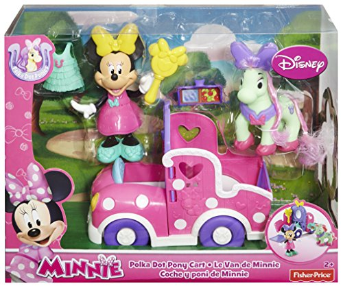 Fisher Price Minnie Mouse Polka Dot Pony Cart