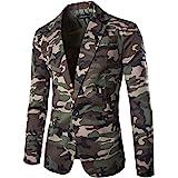 Pingtr Men's Camouflage Suit Jacket esigner Slim Fit Blazer Business Jacket Smart Formal Suits Long Sleeve Coat Top Autumn Wi
