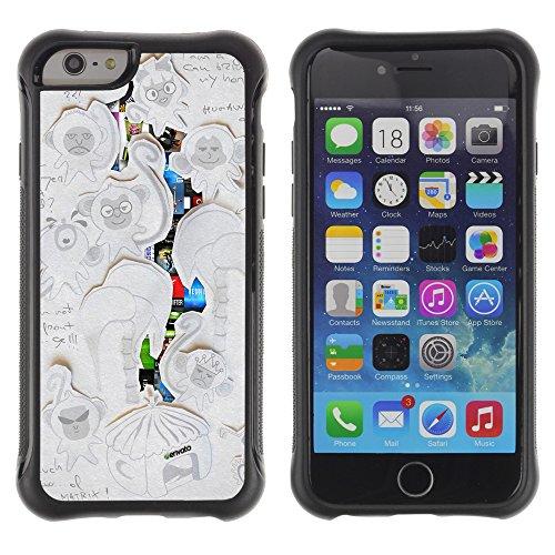 Graphic4You CGI Eyes Manipulation Design Shockproof Anti-Rutsch Weichen Hülle Case Tasche Schutzhülle für Apple iPhone 6 / 6S Design #9