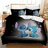 Enhome Literie Housse de Couette 2/3 Pieces Polyester, Blue Monster 3D Les Adolescents Home Parure de Lit Home Housse de Coue