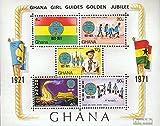 Ghana Block42 (kompl.Ausg.) 1971 Pfadfinderinnen (Briefmarken für Sammler)