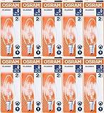 OSRAM Classic Eco Superstar 30 W (= 40 W), Kerzenform, SES E14, Halogen-Energiesparlampe, kleiner Edisonsockel, dimmbar, 405 Lumen, 240 V, 10 Stück