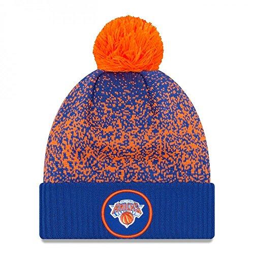 New Era New York Knicks NBA '17 Pom Beanie Mütze, blue/orange