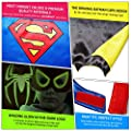 LAEGENDARY Superhero Costumes for Kids - 4 Capes and Masks - Glow Spiderman Logo - Boys and Girls Toys - Christmas Gift for Kids