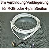 3 Meter Verbindung Verlängerung Kabel für RGB LED Streifen