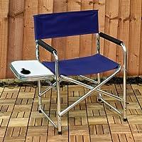 Kingfisher - Sedia da regista per picnic con tavolino laterale pieghevole