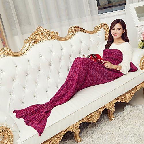 Coperta di maglia mermaid blanket coperta tv divano coperta coperta coperta strisce ondulate in sacco a pelo singolo warm-,14070cm a calci il rosso B077ZVX9HG Parent   In vendita    Area di specifica completa    Fashionable  8aa809