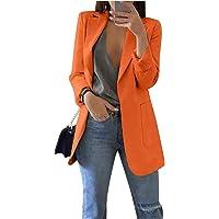 Blazer Basic Aderente Donna Maniche Lunghe Colletto Rivolto Tinta Unita Elegante Ufficio Business OL Cappotto Tops Slim…