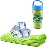 Cooling Towel, Vakki Ice Cold Sports Sweat Towel for Instant Relief perfect for Cooling Scarf Neck,Forehead, Wristband…