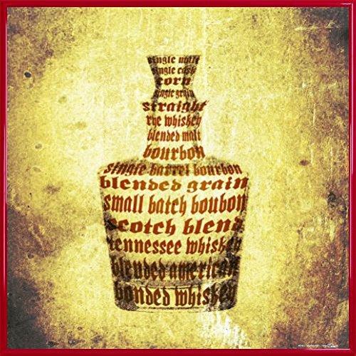 1art1 Whiskey Poster Kunstdruck und Kunststoff-Rahmen - Whisky Sorten (40 x - Daniels Flasche Kunststoff-jack