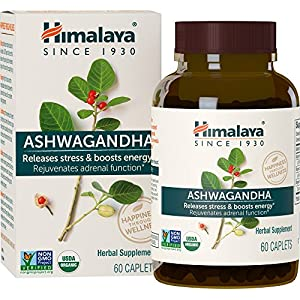 Himalaya Ashwagandha USDA  – Adaptogen für Zugentlastung Cortisolspiegel-Unterstützung und Leistungs-booster- 60 Kapseln