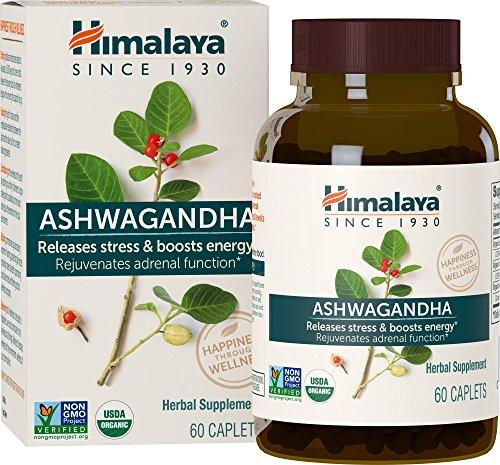 Himalaya High Strength Ashwagandha (Ginseng indio) Certificado por el USDA | Todo natural antiestrés, alivio de la ansiedad y potenciador de energía | 4,630 mg, 60 cáps (Ashwagandha (US - OLD PACK))