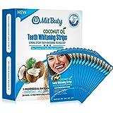 MitButy White Strips zur Zahnaufhellung mit natürlichem Kokosnussöl, 28 rutschfeste Streifen zum Zähne weißen - Professionelle Safe Effects Whitestrips, 14 Behandlungen