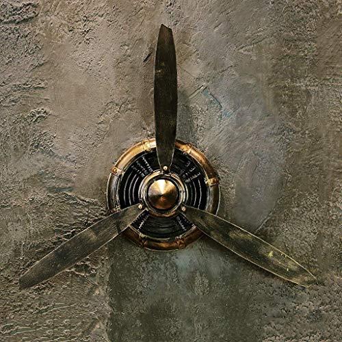 Loft Estilo Industrial Retro Negro Hélice de avión Decoraciones de Hierro Colgante de Pared Decoraciones de Pared Colgante Decoración de Pared L * W * H 67 * 7 * 53cm (Color : -, tamaño : -)
