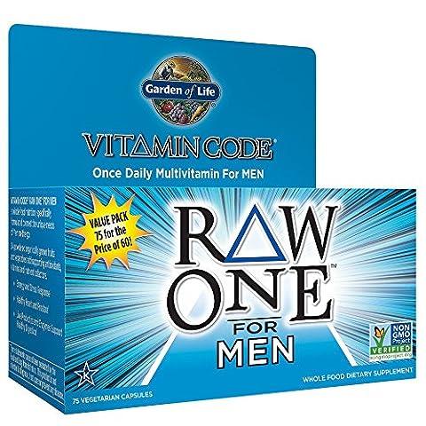 Garden of Life Vegetarisch vitaminergänzungspräparat für Herren–Vitamin Code Raw One Whole Food Vitamin mit Probiotika, 75Kapseln