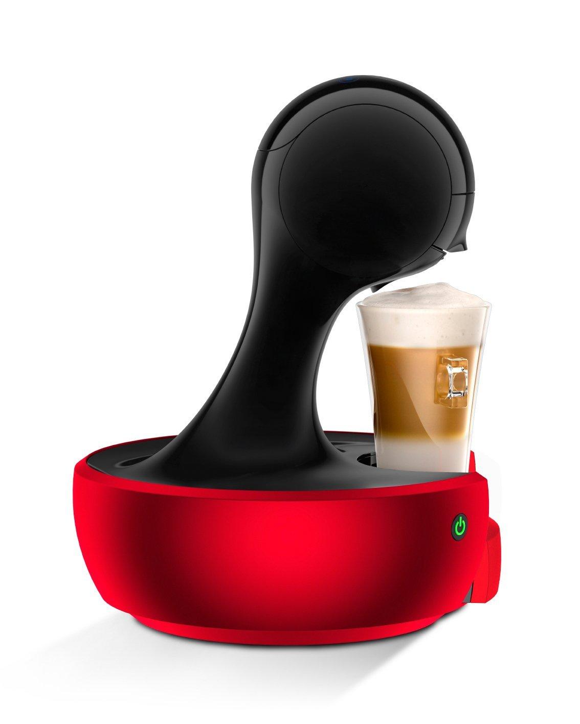 Krups-Nescaf-Dolce-Gusto-Drop-KP3505-Kapsel-Kaffeemaschine-15-bar-Pumpendruck-automatische-Wasserdosierung-Flow-Stop-Sensor-Touch-08-l-Wassertank-rot-Generalberholt