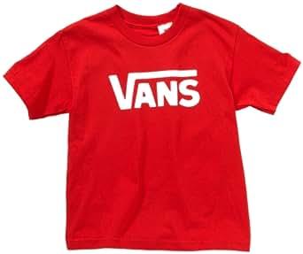 Vans - T-Shirt Manches Courtes - T-shirt - Manches Courtes Mixte S Rouge/blanc