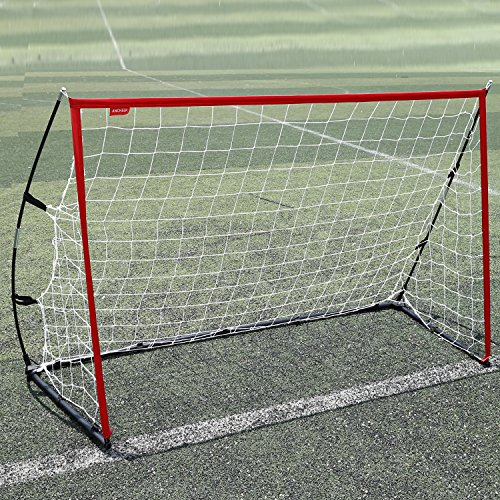 Hiriyt Portable 6 x 4ft Soccer Football Goal Net with Bow Frame Quick Set-up (4 Frame 6 X)