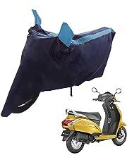 Mototrance Sporty Arc Blue Aqua Bike Body Cover for Honda Activa 5G