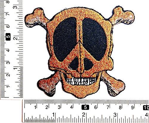 hen Skelett Halloween Patch Weste/Jacke Biker Patch Motorrad Fahrer Biker Tattoo Jacke T-Shirt Patch Sew Iron on gesticktes Schild Badge ()