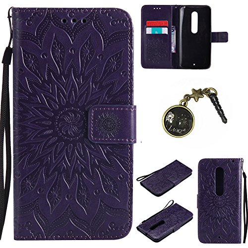 PU Cuir Coque Strass Case Etui Coque étui de portefeuille protection Coque Case Cas Cuir Swag Pour Motorola Moto X Style +Bouchons de poussière (4GG)