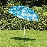 Sonnenschirm höhenverstellbar, faltbar, UV 40+ Schutz, Neigungswinkel einstellbar, 180cm Durchmesser, ideal für die ganze Familie