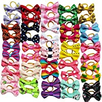 Chenkou Craft 50PCS/25PAIRS New Dog fiocchi per capelli con fiocco elastico Pet Grooming Products mix colori vari modelli Pet Hair Bows Dog Accessories
