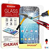 Samsung Galaxy S4 Mini Tempered Glass Crystal Clear LCD Screen Protector Guard & Polishing Cloth + RED 2 IN 1 Dust Stopper SVL6 BY SHUKAN®, (TEMPERED GLASS)