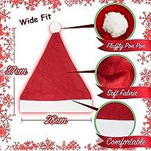 10 Gorros con Lentejuelas Navideños de Santa Claus – Sombrero para Disfraz y Vestido Sexy Adultos – Accesorio de Conjunto Traje de Navidad – Articulo Tradicional y Regalo de Festividad