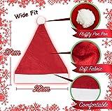 10 Pcs - Bonnet de Père Noël avec Paillettes - Chapeau de luxe de Noël pour femme - Déguisement costume - l'accessoire festif idéal pour les fêtes de fin d'année.