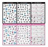 Hosaire 6 Fiches Autocollant Sticker Motif Kawaii Expression Stickers Adhésif Cartoon Décoration de DIY Calendrier Album Scrapbooking Diary Cadeau Idéal pour Enfant