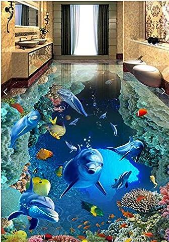 Wapel Hintergrund, Wandaufkleber, Traum, Unterwasser Welt, Delphin Thema, Hintergrund, Wand, Land, 250 X 175 (250 Thema)